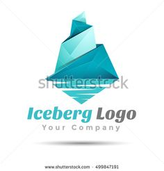 Triangle iceberg Volume Logo Colorful 3d Vector Design Corporate identity