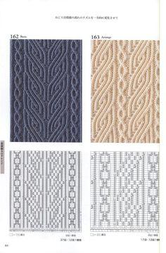 Knitting Pattern Book 260 by Hitomi Shida . : Knitting Pattern Book 260 by Hitomi Shida … with cables- Lace Knitting Patterns, Knitting Stiches, Cable Knitting, Knitting Charts, Knitting Designs, Knitting Projects, Crochet Stitches, Hand Knitting, Stitch Patterns