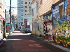 graffiti in cypress alley, san francisco #san_francisco #mission_district ~ Join the Seen In San Francisco Facebook group to share your SF photos and videos or to enjoy the pics and videos in your Facebook feed: https://facebook.com/groups/seeninsanfrancisco