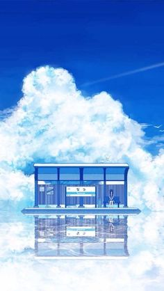 grafika anime, anime girl, and scenery. Anime Backgrounds Wallpapers, Anime Scenery Wallpaper, Cute Wallpapers, Iphone Wallpapers, Blue Backgrounds, Aesthetic Art, Aesthetic Anime, Anime Beautiful, Beautiful Scenery