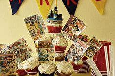 Super Hero Birthday party! I used the glow stick punch/limeade idea!