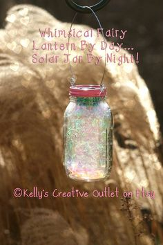 Valentine Gift - Solar Lights - Solar Mason Jar - Fairy Lantern - Fairy Jar - Valentine Decor - Mason Jar Decor - Fairy Garden - Lantern by KellysCreativeOutlet  This listing is for ONE, hand crafted quart sized solar mason jar, with a pink and fitted handle for hanging. If you would like to special order a larger quantity, convo me and I will make arrangements for you.