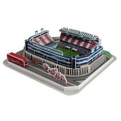 Puzzle Nanostad 3D Estadio Vicente Calderón, Atlético de Madrid, 158 Piezas