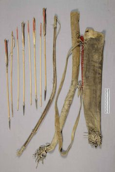 Ute bowcase-quiver, before 1881, from Col. Dodge.  NMNH  ac