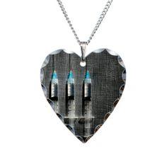 Hypodermic Needles Heart Necklace - kinda hilarious
