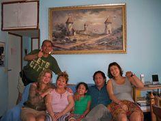 Amigos, grandes amigos, Santander,su esposa e hija, Marita y Kory.