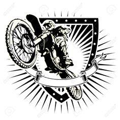 35387019-motocross-illustration-on-the-shield-Stock-Vector-motocross-enduro-motorcycle.jpg (1300×1300)