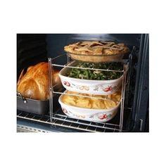 Oven Rack 3 Tier Betty Crocker Bakers Roasting Casseroles Pies Steel Collasible  #BettyCrocker