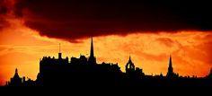 Edinburgh Castle at sunset by Paki Nuttah on Flickr.