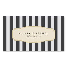 Chic Black Stripes Business Cards. This great business card design is available for customization. All text style, colors, sizes can be modified to fit your needs. Just click the image to learn more!