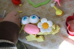 crayonfreckles: mr. potato head and playdoh