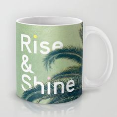 Rise & Shine by Anna Dorfman motivationmonday print inspirational black white poster motivational quote inspiring gratitude word art bedroom beauty happiness success motivate inspire