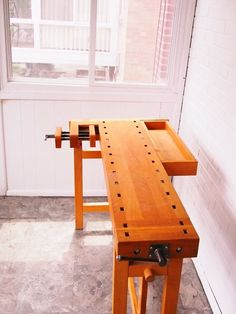 Apartment workbench, sawhorses needed