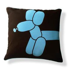 Balloon Dog Pillow 18x18 Blue now featured on Fab.