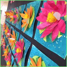Kunst grundschule - grade art lessons - art with mrs filmore. Spring Art Projects, Spring Crafts, Arte Elemental, Classe D'art, 2nd Grade Art, Grade 3, 2nd Grade Crafts, Art Lessons Elementary, Preschool Art Lessons
