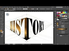 How to Wrap a Single Word Around the Perspective Grid Planes in Adobe Illustrator Web Design, Graphic Design Tools, Graphic Design Tutorials, Tool Design, Graphic Design Inspiration, Graphic Projects, Design Layouts, Photo Layouts, Design Posters