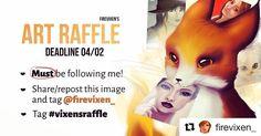 Join it on my art account @firevixen_! Participem :) . . . . #raffle #artraffle #giveaway #portraitart #fantasyart #artgiveaway #instaartist #artoftheday #digitalpainting #digitalart #illustration #ilustração #sorteio #arte #picture #drawing #draw #firevixenart #firevixen #desenho #instaart #artsy #gallery #creative #pintura #photoshop #artcontest #digitalillustration