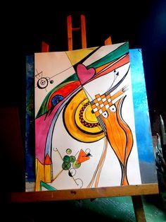 """abstrakce...""""Pocity""""Zdenka  Měřičková  art."""