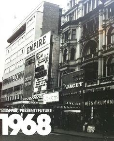 Jacey and Empire Cinemas Leicester Square circa 1968