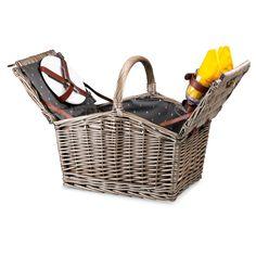Piccadilly Picnic Basket for 2 - Dark Wicker