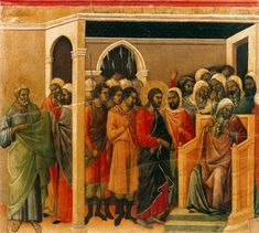 Duccio di Buoninsegna (Italian, c. 1260 - 1319) Christ Before Caiaphas (scene 10) 1308-11 Tempera on wood, 46 x 54 cm Museo dell'Opera del Duomo, Siena