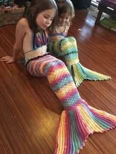 Crochet mermaid tail  Ocean inspired yarn  rainbow by LaMalaTae