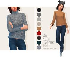 [TS4] Boxy Sweater (Short) for AF - TAMO