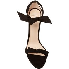 Alexandre Birman     Clarita Suede Tie Front Sandals ($595) ❤ liked on Polyvore featuring shoes, sandals, alexandre birman shoes, alexandre birman, suede shoes, suede leather shoes and suede sandals