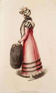 Fashion plate originally published in La Belle Assembleé issue no 26 of the New Series on 1 November, 1814. National Museums of Scotland.