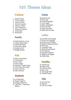 101 Theme Ideas for Pampered Chef Parties! Pampered Chef Party, Pampered Chef Recipes, Pampered Chef Products, Potluck Themes, Dinner Themes, Adult Party Themes, Birthday Party Themes, Party Themes For Adults, Theme Parties