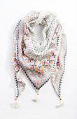tasseled triangle scarf | J.Jill