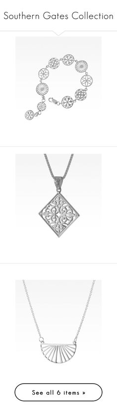 """""""Southern Gates Collection"""" by silverliningsmd ❤ liked on Polyvore featuring jewelry, bracelets, american jewelry, necklaces, augusta, swirl necklace, art deco inspired jewelry, art deco necklaces, art deco jewellery and deco jewelry"""