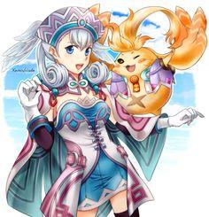 Xenoblade Chronicles- Melia and Riki