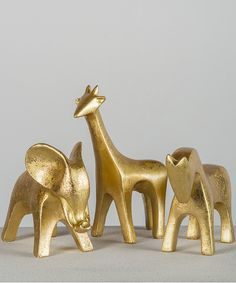 Gold Animal Figurine Set