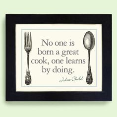 Kitchen Art Print Kitchen Decor Julia Child Quote by DexMex, $22.00