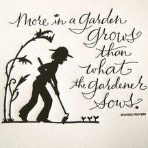 Garden wisdom!