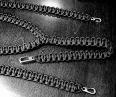 Paracord suspenders. Mmmhmmm I so gotta make these for my dad
