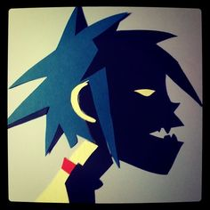 2D from Gorillaz. Paper collage by Hannah Hopkinson (2011)