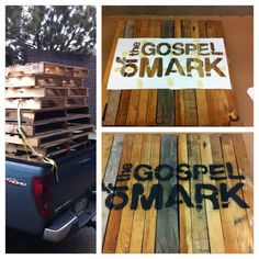 pallets for set design. Easy way to create words