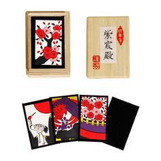 Hanafuda Cards, Shishinden Hall (w/Paulownia Case) Black Japanese New Year, Japanese Love, Japanese Art, New Year's Games, Fun Games, Japanese Lifestyle, Traditional Toys, Japanese Culture, Asian Art