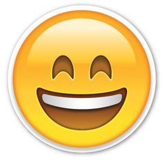 Smiling Face with Open Mouth and Smiling Eyes   EmojiStickers.com