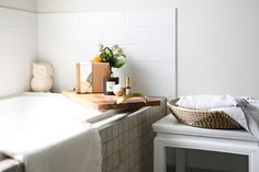 Creating a bath experience for the ultimate relaxation.  Not only is this a relaxing nighttime ritual but taking a hot bath boost your body temperature and when you cool down quickly afterward, this helps bring on a drowsy feeling. Add our bath bomb with beautiful lavender essential oil for an extra soothing effect.