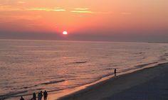 Panama City Beach, FL Nothing like watching the sun set on the beach.