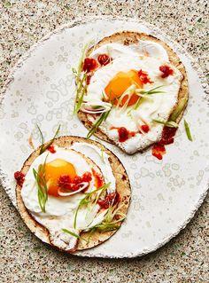Fried Egg Tacos with Chile Jam Recipe | Bon Appetit
