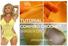 Crochet y Dos agujas: Cómo tejer corpiño en crochet con push up / paso a...