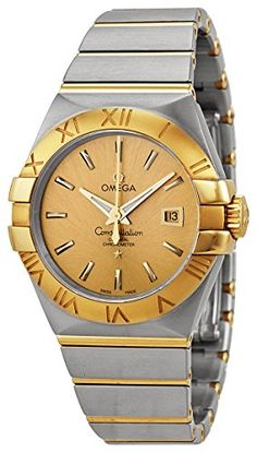 Omega Constellation Chronometer Champagne Dial Steel and 18kt Yellow Gold Ladies Watch 123.20.31.20.08.001 - TimeOnMyHand