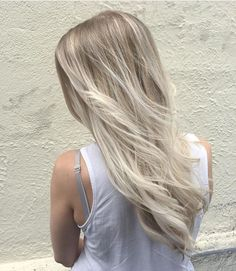 Light ash blonde balayage