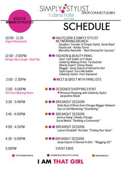 Simply Stylist Chicago: Schedule - June 8 a full day of fashion & beauty!