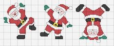Cross Stitch Christmas Cards, Santa Cross Stitch, Cross Stitch Cards, Christmas Cross, Cross Stitching, Cross Stitch Embroidery, Cross Stitch Patterns, Hama Beads Disney, Santa Crafts