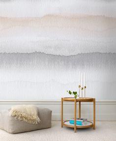 Wandbemalung in hellen Farben als Highlight im Raum